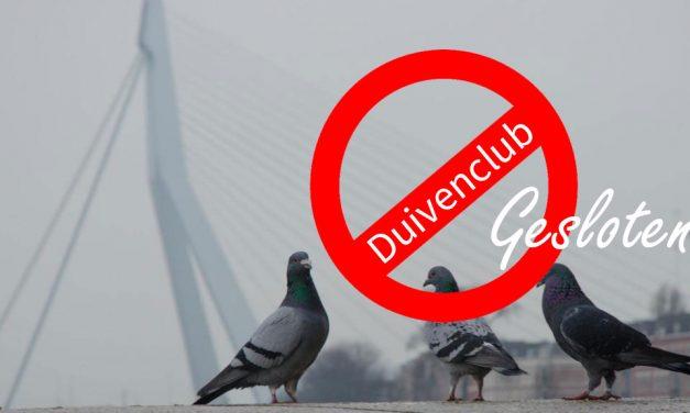 24/10: Duivenclub dicht ivm Marathon Rotterdam